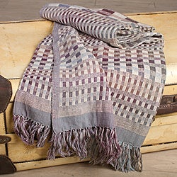 Geometric Silk and Wool Throw (India)