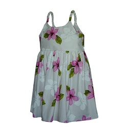 Hibiscus Shadows Girls Pink Bungee Strap Dress