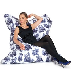 Sitting Bull Toile de Jouy Fashion Bean Bag Chair