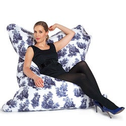 Sitting Bull Toile de Jouy Fashion Bean Bag