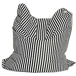 Sitting Bull Fashion Black and White Bean Bag Chair