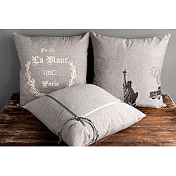 Places 18-inch Decorative Pillows (Set of 3)