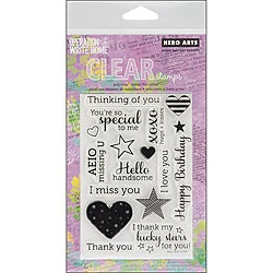 Hero Arts Year Round Sentiments Cling Stamps