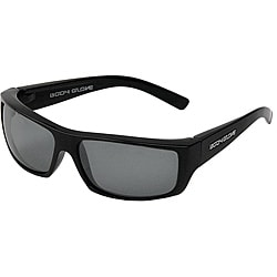 Body Glove &#39;Carmel 1&#39; Men&#39;s Black/Smoke Polarized Mirrored Sunglasses