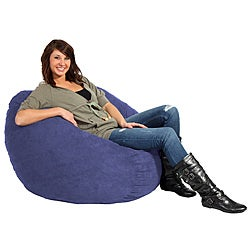 FufSack Purple Blue Microfiber 3-foot Bean Bag Chair