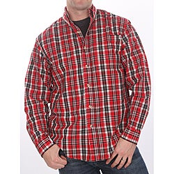 Farmall IH Men's Red Plaid Shirt