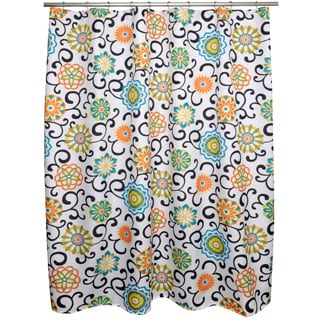 Pom Swirl Shower Curtain
