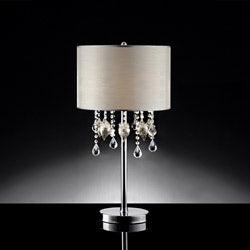 Audrina Drape Crystal Table Lamp