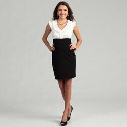 Max & Cleo Women's Sleeveless Ruffle Collar Dress