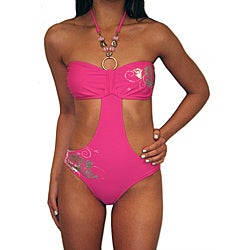 Lisabelle 'Coming Up Roses' Pink Monokini Swimsuit