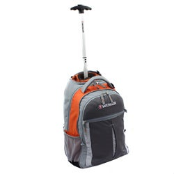 Wenger Swiss Gear Orange 18-inch Rolling Carry-On Backpack