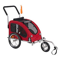 'Medium' Red Comfy Dog Bike Trailer/ Stroller Kit