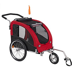 'Large' Red Comfy Dog Bike Trailer/ Stroller Kit