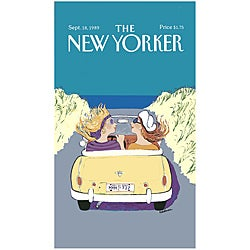 'New Yorker Girlfriends Cruising' Cotton Beach Towel