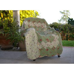 Bliss Sage Quilted Cotton Throw