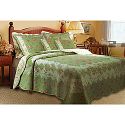 Bliss Sage 3-Piece Twin-size Quilt Set