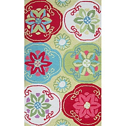 Peony Citron/ Multi Floral Rug (2'3 x 3'9)
