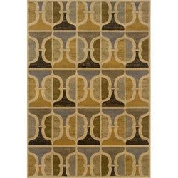 Gold and Grey Transitional Area Rug (3'10 x 5'5)