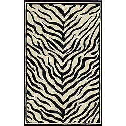 Hand-tufted Monrovia Black/ Ivory Area Rug (8' x 10')
