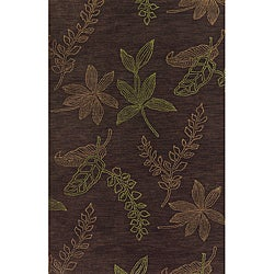 Solano Brown/ Rust Transitional Area Rug (5' x 8')