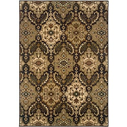 Sydney Brown/ Beige Transitional Area Rug (9'9 x 12'2)