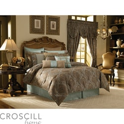 Croscill Home Laviano Aqua Queen-size 4-piece Comforter Set