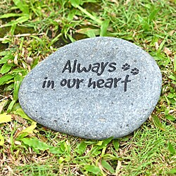 'Always In Our Heart' Pet Memorial Stone (Indonesia)