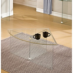 Glassix Pie Slice Glass Coffee Table