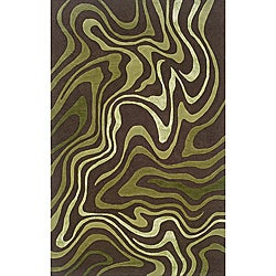 Monrovia Brown/ Green Transitional Area Rug (10' x 13')