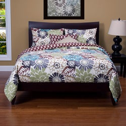 Blooming Bulb Harvest 6-piece Reversible Queen Duvet Set