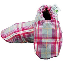 Augusta Baby Girl's Pink Plaid Soft Sole Cotton Shoe