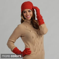Oliver &amp; James Cashmere Beanie Hat and Glove Set