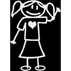 Vinyl Letter Decor 'Stick Girl 1' Stick Figure Car Decal