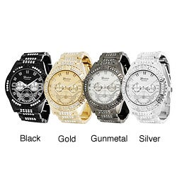 Geneva Platinum Rhinestone-accented Link Watch