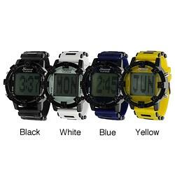 Geneva Platinum Men's Stopwatch LED-Light Silicone Digital Watch