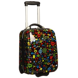 Trendykid &#39;Chat&#39; 17-inch ABS Tween Carry On Rolling Upright