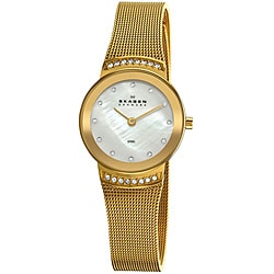 Skagen Women's Stainless Steel Gold Mesh Band Watch