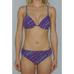 Island Love Women's Purple Aztec Underwire Bikini