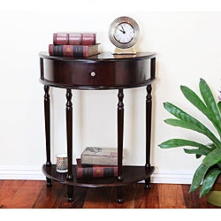 Cherry Finish Sofa Console Table with Drawer
