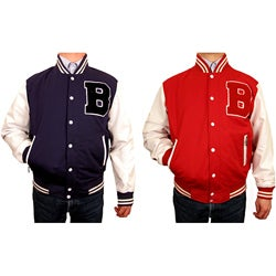 Hudson Outerwear Men's Big and Tall Cotton Twill Varsity Jacket