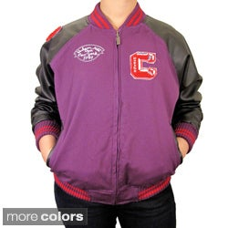 Hudson Outerwear Big Kid's Lined Cotton Twill Varsity Jacket