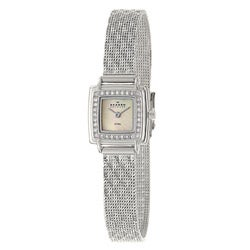 Skagen Women's Square Dial Textured Mesh Strap Watch