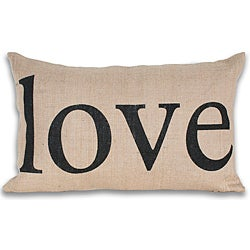 Love Printed 12x20-inch Jute Pillow
