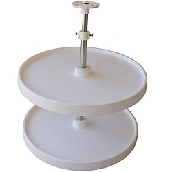 Double Round 28-inch Lazy Susan Turntable with Two Rotating Trays