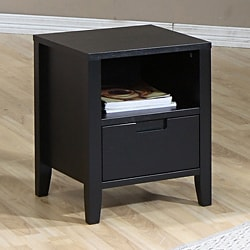 Cordaba Black 1-drawer Nightstand