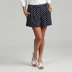 Vince Camuto Women's Polka Dot Angle Pocket Shorts FINAL SALE