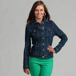 Live a Little Elastic Back Denim Jacket