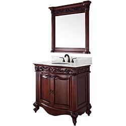 Wyndham Collection Eleanor 36-inch Cherry Single Bathroom Vanity