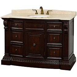 Wyndham Collection Roosevelt Cherry Traditional Bathroom Vanity