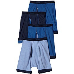 Hanes Men's Blue Ringer Boxer Brief (Pack of 4)